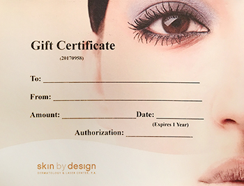 Make someone happy with a gift certificate!