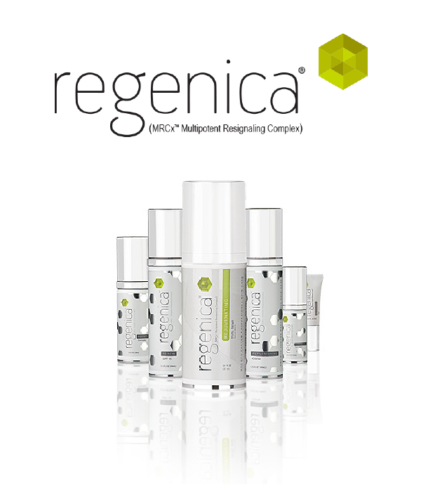 Regenica Logo and Product